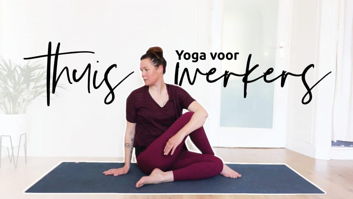 Ontspan schouders, nek en bovenrug met deze yoga voor thuiswerkers