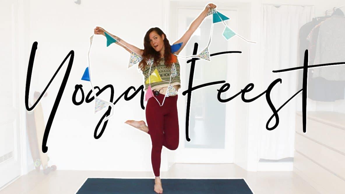 Feestelijke yoga
