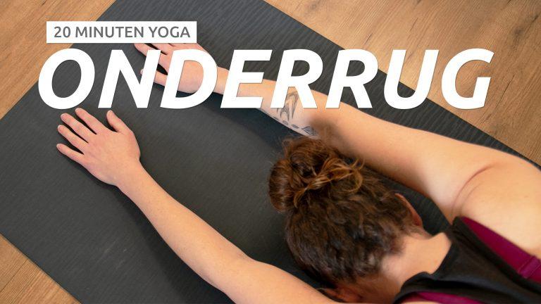 yoga om je onderrug los te maken
